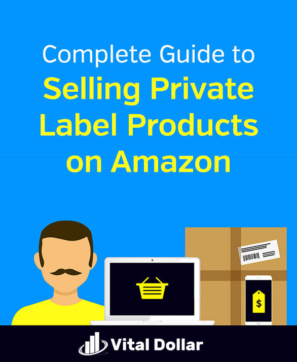 Complete Guide to Selling Private Label Products on Amazon FBA. Step-by-step instructions for starting your profitable ecommerce business, plus my story about how my wife and I made six figures part-time. Whether you want a side hustle to make extra money or a full-time work from home business opportunity, Amazon\'s a great choice. Here you\'ll learn how to choose a product, and how to get sales & reviews. #vitaldollar #sidehustle #ecommerce #amazonfba #amazon #makemoney