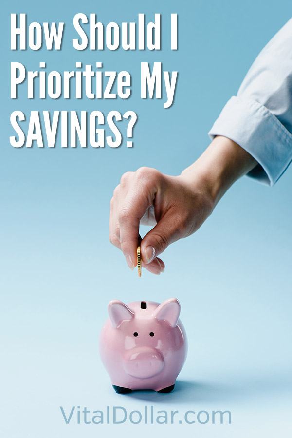 How Should I Prioritize My Savings? This article covers the best order to save an invest, including retirement accounts like a 401(k), Roth IRA, and traditional IRA, paying down a mortgage, paying off debt, saving for college, vacation, home improvements, and other personal or family goals. You'll want to be sure to get the company match for your 401(k), plus get the best tax benefits to reduce what you owe. #vitaldollar #personalfinance #savemoney #savingmoney #investing #moneymanagement #money