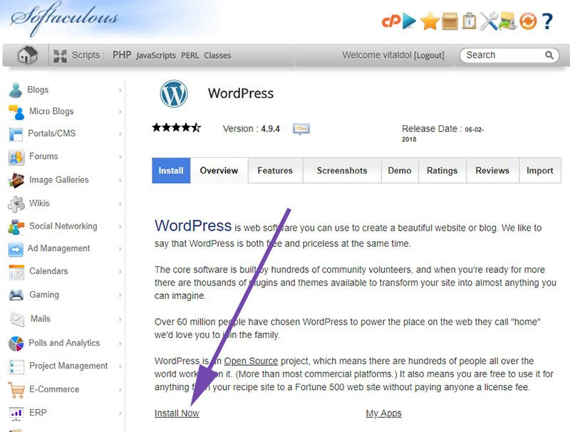 Install WordPress Quickly