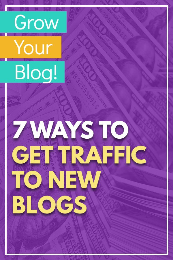 7 Ways to Get Traffic to New Blogs and Websites. Grow your blog audience quickly with the help of these tips and ideas. Get more visitors without waiting for Google to start sending search visitors to your site. Build your own network of other bloggers, use Facebook groups, pin images and links to Pinterest, answer questions on Quora, participate at Reddit, and more. #blogging #blogtips #bloggingtips #blog