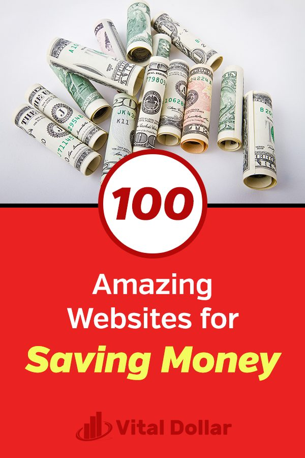 100 Amazing Websites for Saving Money. Resources and tools to help you spend less, earn cash back, save more, and manage your money wisely. These personal finance gems will give you the best buys and purchases at discounted sale prices, as well as free offers. Keep more cash in your wallet and reduce your budget expenses because these sites can save you money on everyday items. #vitaldollar #savemoney #savingmoney #personalfinance #money #moneymanagement