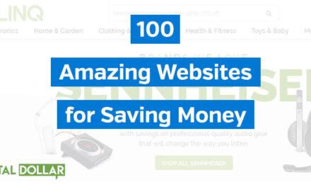 100 Amazing Websites for Saving Money