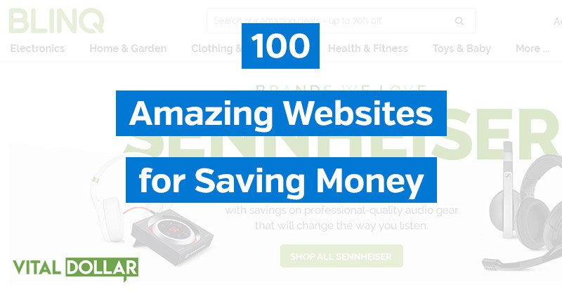 100 Websites for Saving Money