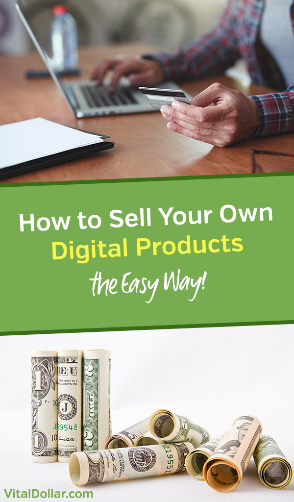 How to Sell Your Own Digital Products The Easy Way. Create and sell ebooks, courses, info products, and other downloadable products from your website or blog. Make money and enjoy passive income to monetize your traffic. SendOwl is an awesome shopping cart and ecommerce platform that is super easy to set up. #vitaldollar #makemoney #makemoneyonline #ecommerce #blogging