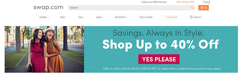 Swap.com - Online Consignment and Thrift Shop