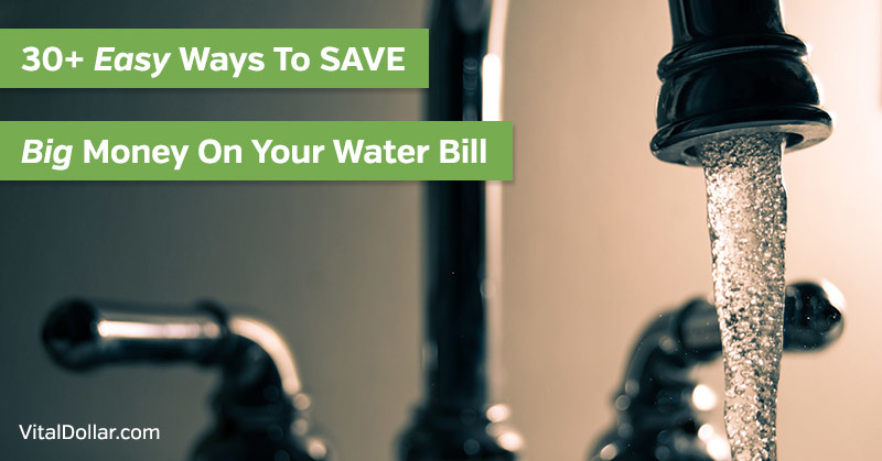 Ways to Save Money on Your Water Bill