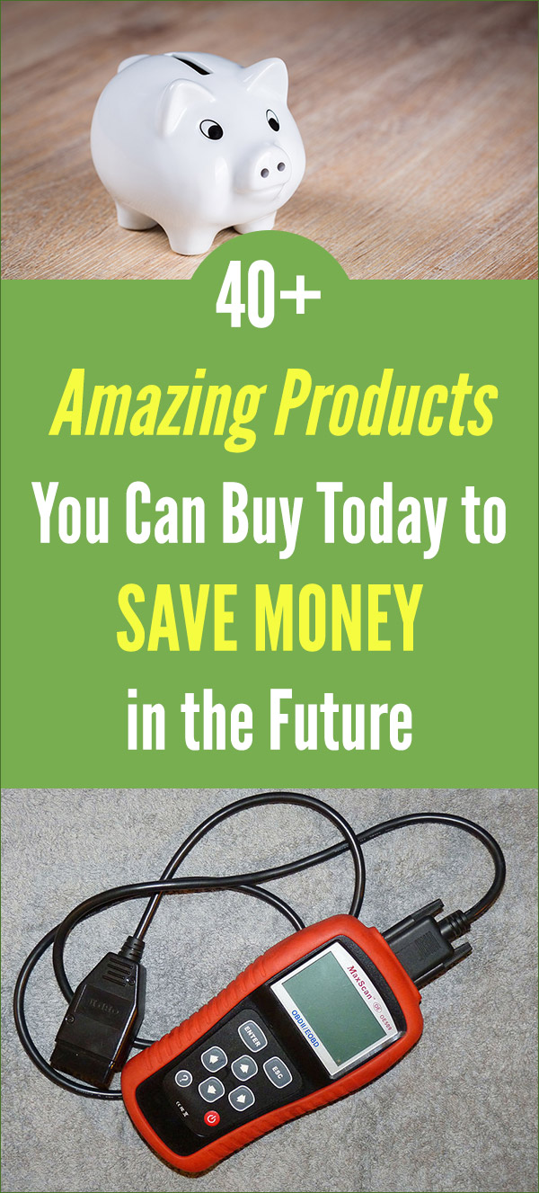 40+ Amazing Products You Can Buy Today to Save Money in the Future. Buy once for saving money. Frugal living tips with reusable products and others that will cut your budget in many ways, like saving on electricity, water, and other monthly bills. Smart buys that will prove to be worth the money over the long-term of many years. #vitaldollar #frugal #savingmoney #savemoney #personalfinance #money