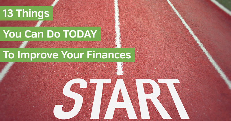 Ways to Improve Your Finances Today