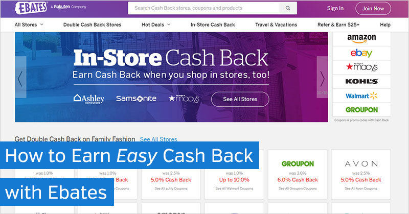 How to Earn Easy Cash Back with Ebates