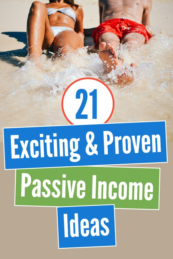 21 Exciting and Proven Passive Income Ideas. Make more money in your sleep without working! Passive income is key to early retirement, and this post gives plenty of tips for passive income streams, even for beginners. Crowdfunding real estate, rental properties, investing in dividend stocks, REITs, and more. Some of the ideas require money to get started, and others can be done with no startup capital. Easy side hustles for extra money. #passiveincome #personalfinance