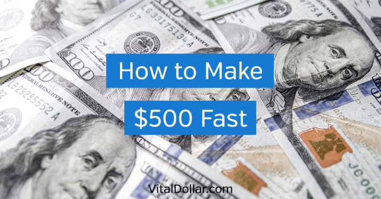 How to Make $500 Fast: 13 Ways to Earn Extra Money Quickly