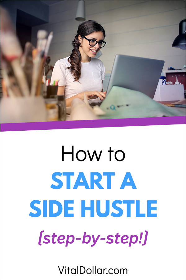 How to Start a Side Hustle. Are you looking to make some extra money? There are a lot of ways to earn cash outside of a job. This article gives tips that will have you making money with a hobby or some other gig. You\'ll set your income goals, create a flexible schedule, and start working from home. Great opportunities for stay at home moms and dads. Take online surveys, freelance, start a blog, and more. #sidehustle #makemoney #makingmoney #workfromhome #entrepreneur #sahm