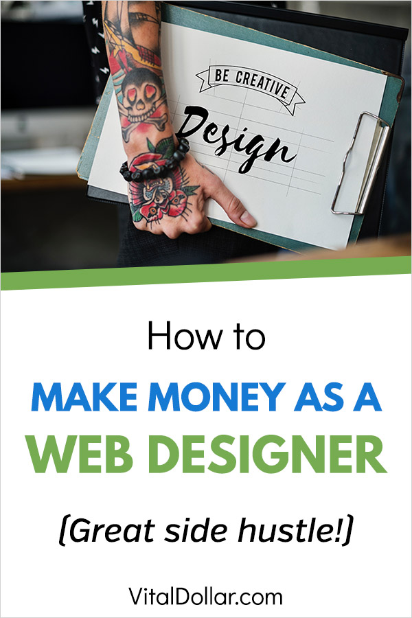 How to Make Money as a Web Designer. I\'ve been looking for a side hustle to make some extra cash and this story is so inspiring! The lady in this interview is making $1,000+ per month part-time and she doesn\'t even code the websites. She uses WordPress themes and plugins to create custom themes for clients. Genius! She\'s a stay at home mom making money without a full-time job. #sidehustle #makemoney #makingmoney #entrepreneur #wordpress