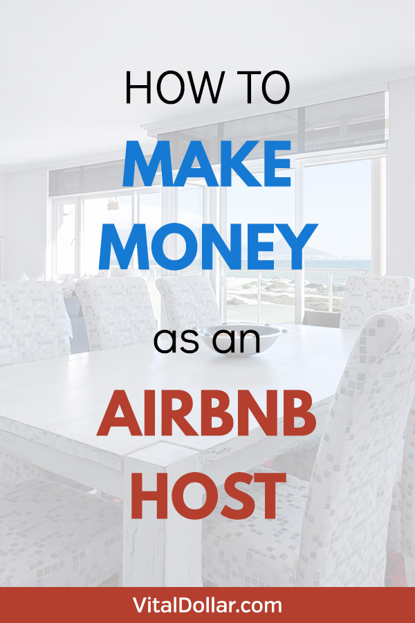 How to Make Money as an Airbnb Host. I've been looking for a side hustle that won't take much time and will fit into my busy schedule, and this looks like a great option. You can rent a room, unit, or part of your house and make some extra cash without a ton of work. The family in this article is making $500 - $700 per month just by renting out a bedroom and a bathroom! This article lists all the steps. #sidehustle #makemoney #makingmoney #money #personalfinance