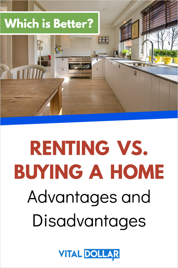 Renting vs. Buying a Home: Advantages and Disadvantages. Should I rent an apartment or buy a house, condo, townhouse, etc.? Check out these tips to make a good financial decision about real estate. You\'ll learn how to decide which is best for your personal or family situation, and your budget. Check out the costs for homeowners and renters as well as pros and cons. Especially helpful for first time homebuyers. #realestate #money #personalfinance #budget #budgeting