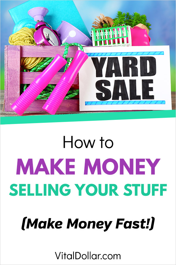 Sell My Stuff... How to Make Money Selling Your Stuff. You probably have a lot of things around your house that you don\'t use or need. Make some extra cash quickly by selling things like clothes, jewelry, electronics, gadgets, books, toys, baby items, and more. A great side hustle or just a way to make money fast. Use Craigslist, Facebook Marketplace, Ebay, Letgo, Poshmark, Mercare, and other apps. #makemoney #makingmoney #sidehustle #extramoney #personalfinance