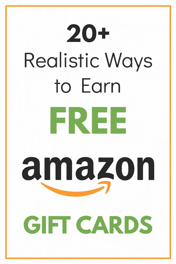 20+ Realistic Ways to Get Free Amazon Gift Cards. How to earn free gift certificates for Amazon.com through things like taking online surveys, using cash back and shopping apps, surfing the internet, and more. Easy ways to save money with your online shopping and get great rewards. Frugal living tips and ideas that will help you to spend less and get great deals on your online purchases at Amazon. #savemoney #savingmoney #frugal #personalfinance #money
