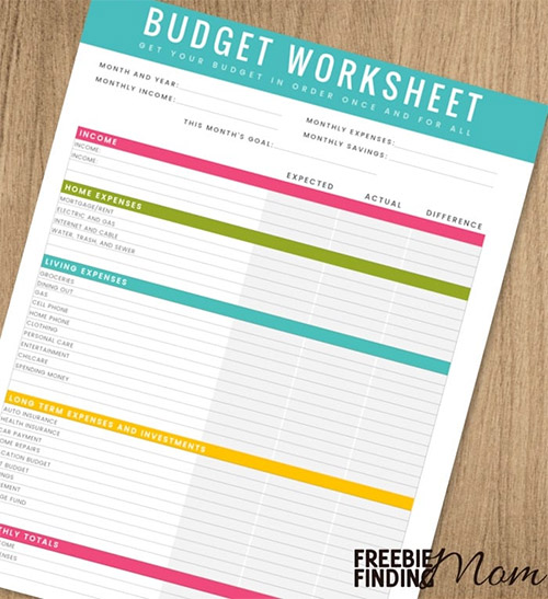 Budget Spreadsheet and Printable