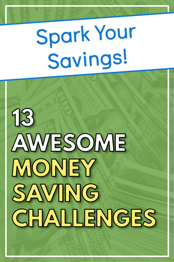 13 Awesome Money Saving Challenges. Get printables for the 52-week money challenge with variations for doubling your savings, mini (smaller amount of savings), flexible, bi-weekly, twice per month, and monthly - depending on how often you are paid. We\'ll also look at a no-spend challenge, spare change challenge, and variations of some of the challenges. #savemoney #saving #personalfinance #budget