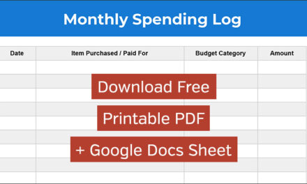 Spending Log: Free Monthly Expense Tracking Spreadsheet and Printable