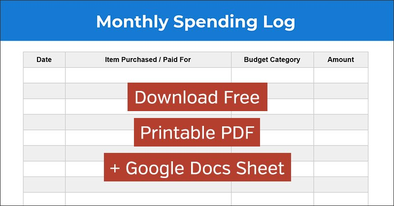 image relating to Free Printable Spreadsheet With Lines known as Shelling out Log: Absolutely free Regular Cost Monitoring Spreadsheet and