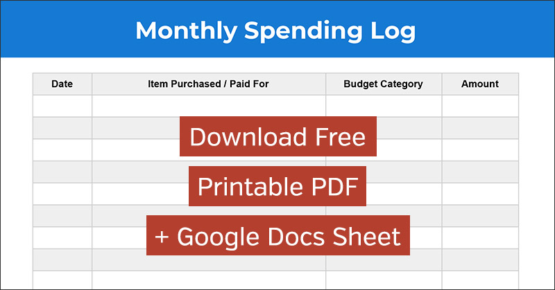 photo regarding Spending Log Printable known as Expending Log: Absolutely free Month-to-month Financial commitment Monitoring Spreadsheet and