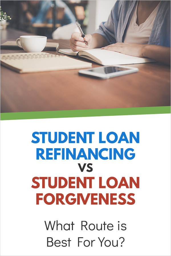 Student Loan Refinancing vs Student Loan Forgiveness: What Route is Best For You. Are you struggling to pay off student loan debt? Have you considered refinancing or forgiveness? This article explains the difference so you can tell if it may be an option for you, and if so, which is the best path to take. #debt #studentloans #debtpayoff #personalfinance