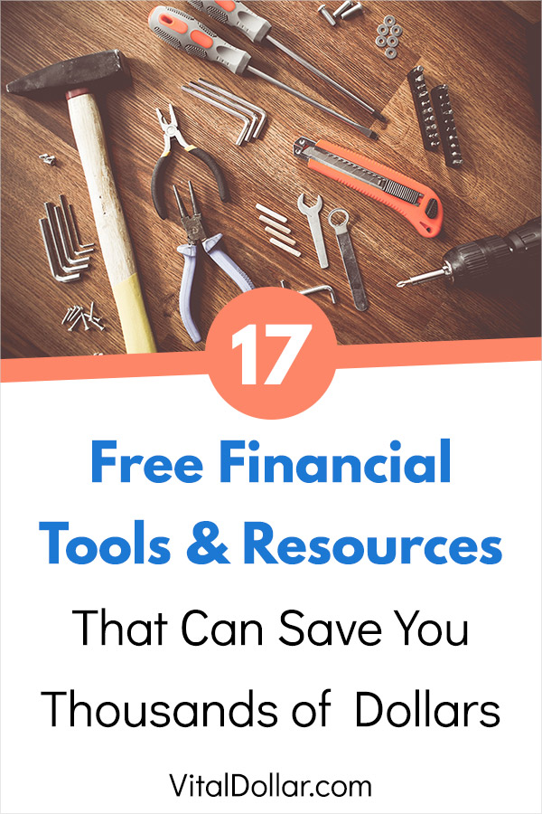 17 Free Financial Tools and Resources to Save You Thousands of Dollars. This post is a collection of awesome tools that help you to manage your money, budget, save money, track your net worth, get better results from your investments, and more. Most of them are quick and easy to use with very little effort. Each one can help in a different way to get your finances on track. #personalfinance #finance #money #savemoney #save #saving #savingmoney