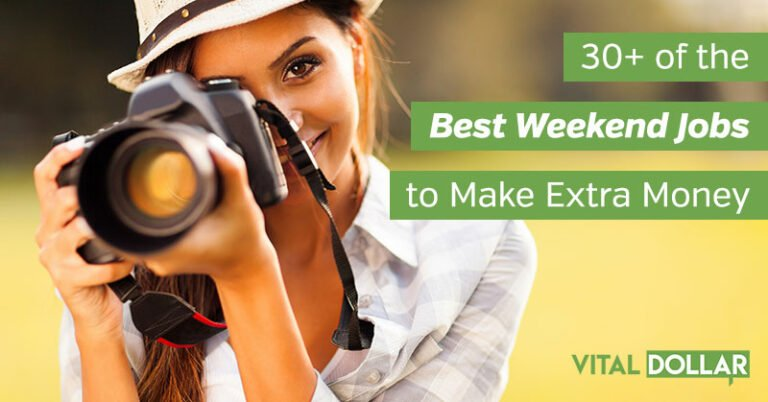 30+ of the Best Weekend Jobs to Make Extra Money