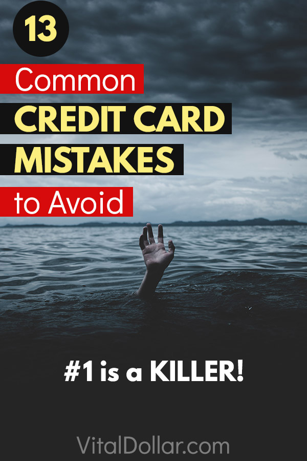 13 Common Credit Card Mistakes to Avoid. Credit cards can be great for getting cashback, free travel points, and other rewards, but there are a lot of things that can go wrong. This article covers 13 common mistakes that can lead to debt and bad credit scores. This includes things like spending too much money, only making minimum payments, paying late fees, charging off accounts, canceling old credit cards, and more. #creditcards #credit #personalfinance