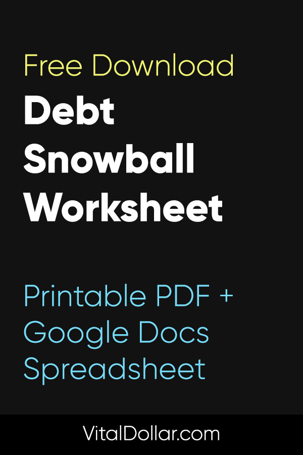 Free Debt Snowball Worksheet (Spreadsheet + Printable). Are you looking to pay off debt? This free download can help! You\'ll get access to a debt payoff worksheet and a debt snowball worksheet. Both come in printable PDF and Google Docs spreadsheet versions. Track your debt payoff journey and stay organized with the help of these printables. #debtpayoff #debtsnowball #personalfinance #money