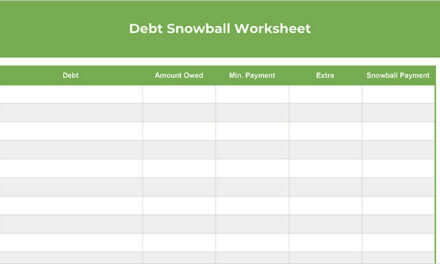 Free Debt Snowball Worksheet (Spreadsheet + Printable)