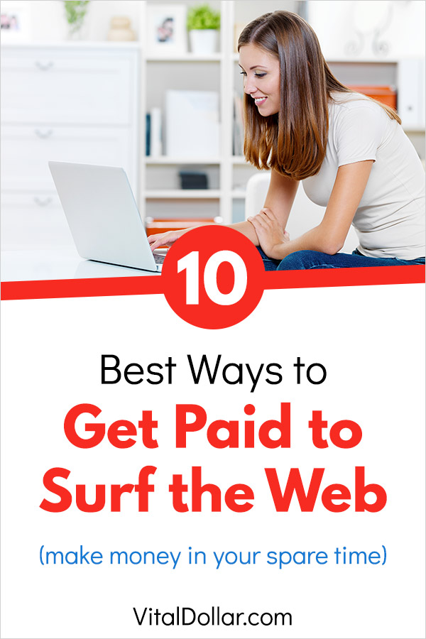 How to Get Paid to Surf the Web. Here are the best ways to make money browsing the internet and searching. Several of them are passive income ideas that take little-to-no effort. A few others are flexible jobs that you can do in your spare time and allow you to turn your internet use into a profitable side hustle. If you\'re looking for some extra cash from easy ways to make money online, this post is for you. #makemoney #makemoneyonline #makingmoney #sidehustle