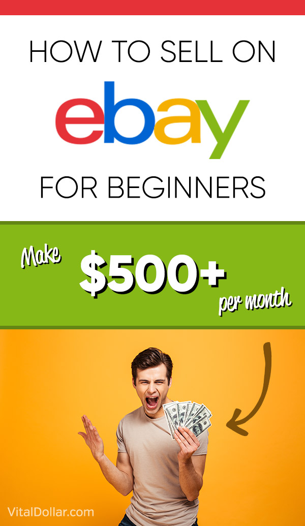 Looking for a way to make some extra cash? Selling on eBay can be a great way to declutter or turn it into a money-making side hustle by flipping items for a profit. This article shares the story of Nathan, who is making $500 - $1,000 every month buying items at yard sales, thrift shops, estate sales, and flea markets and reselling them on eBay. He does it in his spare time to make money. Beginners guide to selling on eBay. #makemoney #sidehustle #makingmoney #ebay