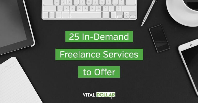 25 In-Demand Freelance Services to Offer