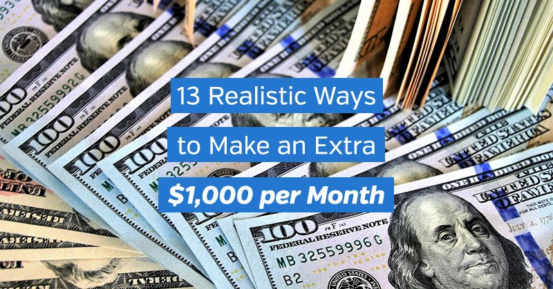 How to Make an Extra $1,000 per Month