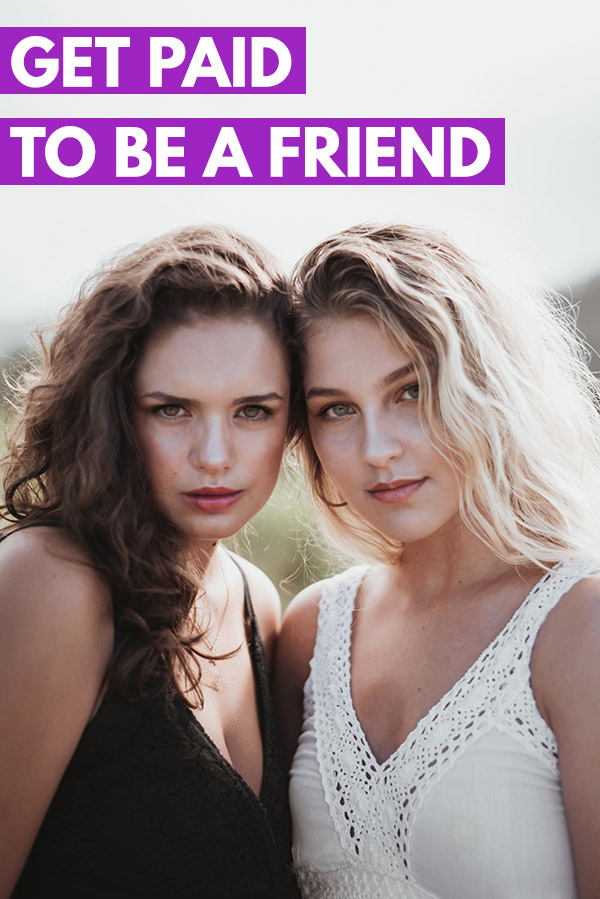 Looking for a flexible side hustle to make extra money outside of a job? With RentAFriend.com you can actually make money just for being a friend. People will pay you to do things like go to the movies, see a concert, attend a sport event, etc. You can earn extra cash and make a good hourly rate with no skills or experience required. Some friends are making thousands of dollars per month! #sidehustle #makemoney #makingmoney #money #personalfinance