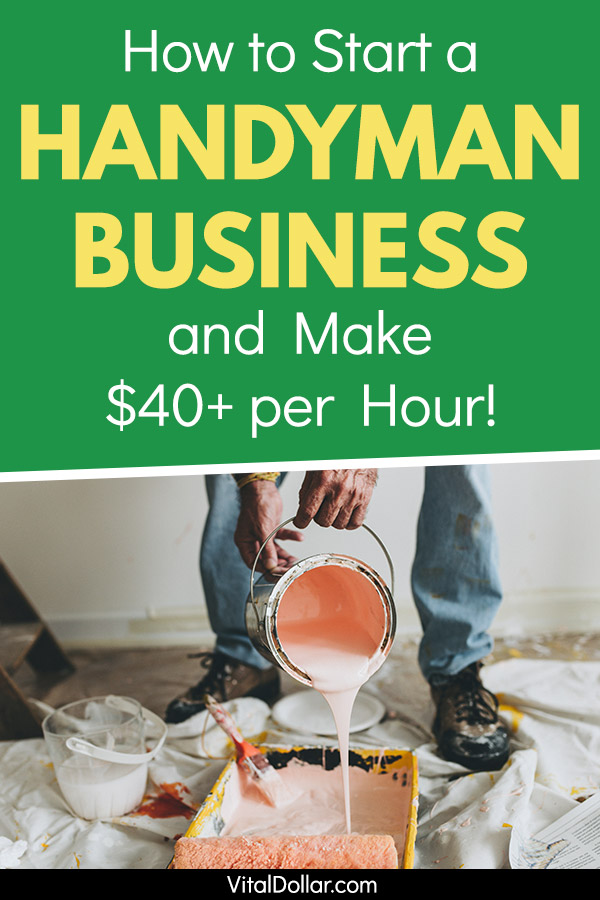 Make money with a flexible schedule by working as a handyman. It\'s great as a side hustle or part-time job and can also become a full-time income. Get paid $30 per hour or more for tasks like painting, like electrical work, light plumbing, carpentry, fixing broken things, and yard work. It\'s the perfect side hustle for someone who likes to work with their hands. Earn extra cash around your existing schedule. #makemoney #sidehustle #makingmoney #entrepreneur #money