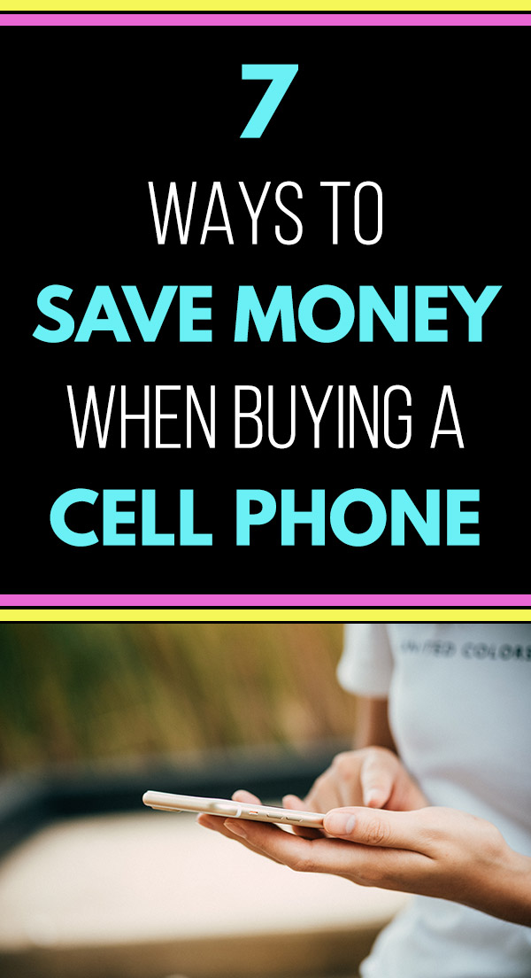 7 Ways to Save Money When Buying a Cell Phone. Frugal living tips that can help you to spend less on the new smartphone that you want. Use these tips, tricks, hacks, and ideas for saving money on technology. Tips like waiting on technology rather than buying the latest devices, selling your old phone or tablet, purchase only features that you need, but an unlocked phone, shop online, buy used or refurbished, and compare offers from carriers. #savemoney #frugalliving