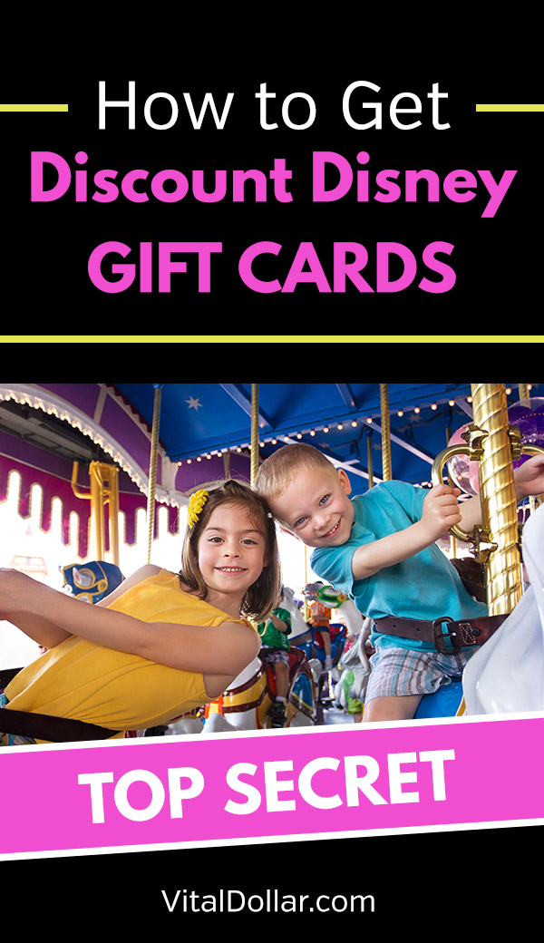 How to Get Discount Disney Gift Cards. Planning a family vacation to Disneyworld or Disneyland? This article shows several easy ways to save money by getting cheap or discounted gift cards that you can use for theme park entrance, nights at Disney-owned hotels and restaurants, as well as food and some entertainment within the parks. Use these tips, tricks, hacks and ideas to save money and get rewards to cover your trip. #savemoney #savingmoney #frugal #disney #family