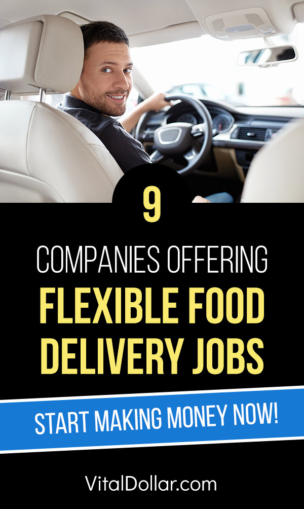 9 Companies Offering Flexible Food Delivery Jobs. If you\'re looking for a side hustle to make extra money in your spare time, you should consider being a food delivery driver for companies like UberEats, DoorDash, Grubhub, and Postmates. This article gives all the details on 9 of the best opportunities. Make money than rideshare drivers without the hassle of transporting other people. Set your own hours! #sidehustle #makemoney #makingmoney #money