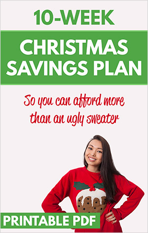 10-Week Christmas Savings Plan