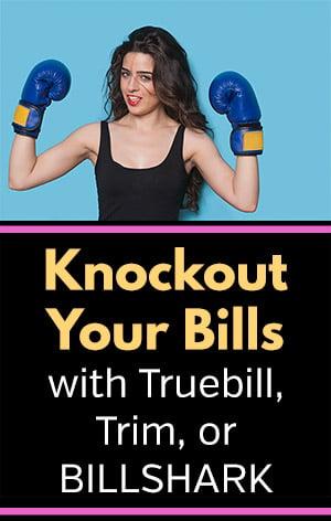 Truebill vs. Trim vs. Billshark