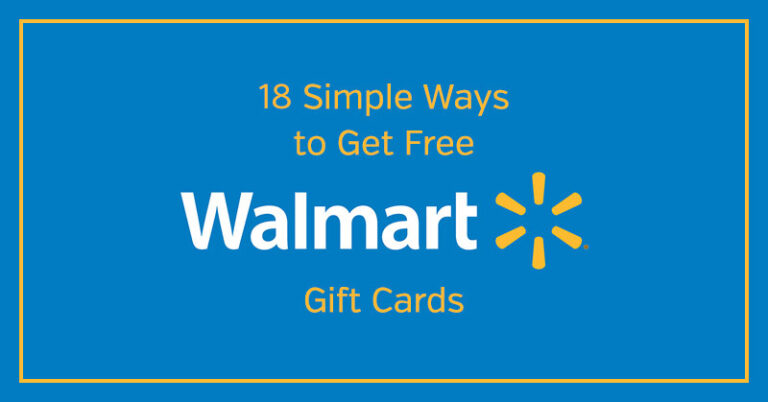 18 Simple Ways to Get Free Walmart Gift Cards