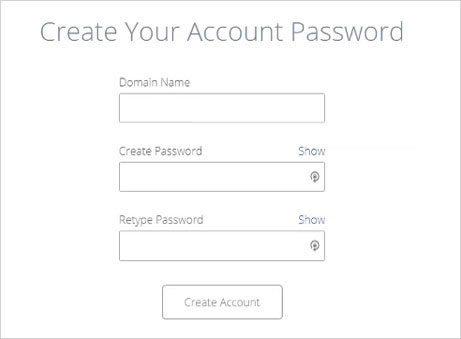 Create Bluehost account