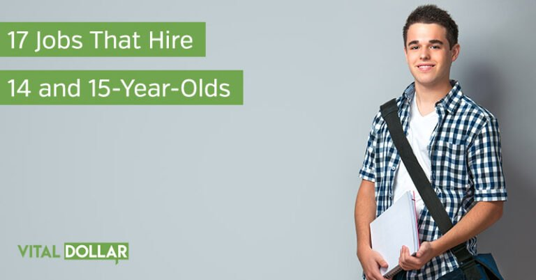 17 Jobs That Hire 14 and 15-Year-Old Teens