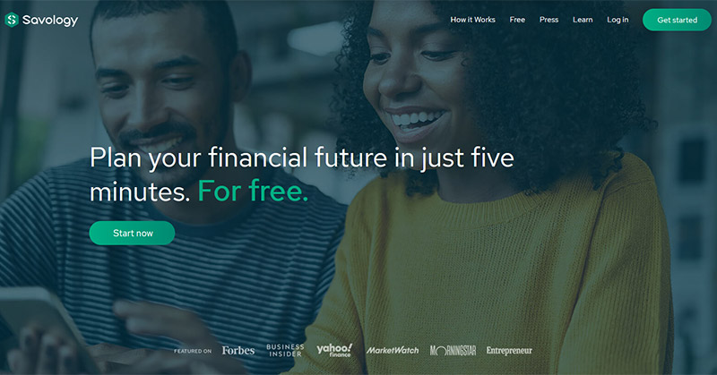A review of Savology's free financial planning platform