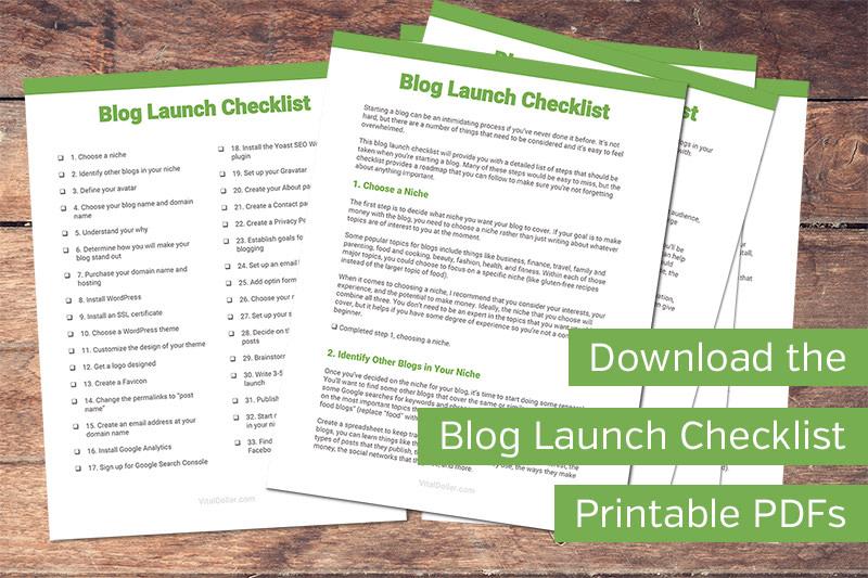 Blog Launch Checklist Printable