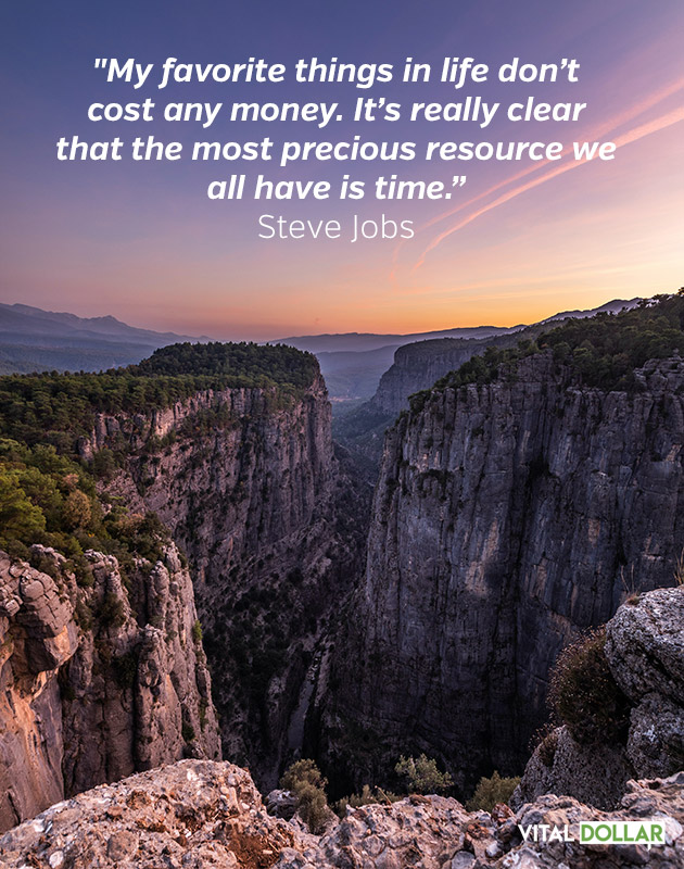 Financial Freedom Quote from Steve Jobs
