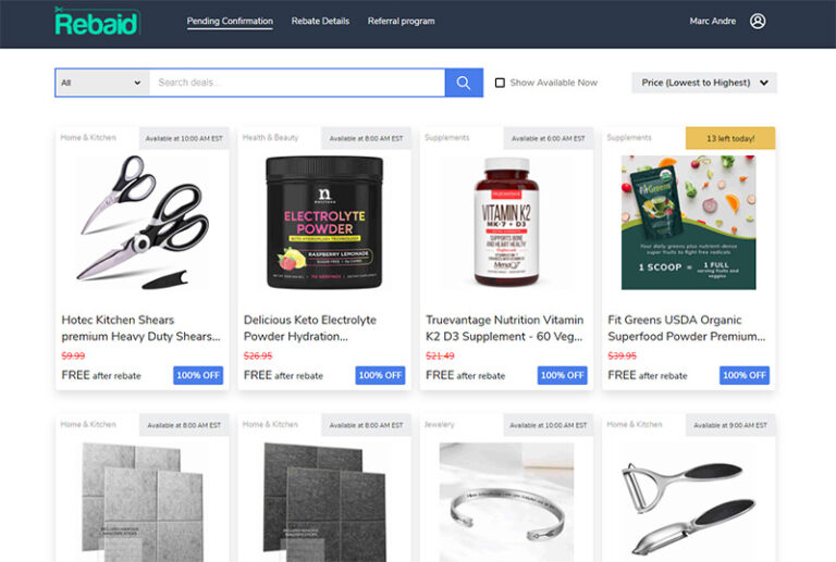 Rebaid Review: Save Up To 100% Off at Amazon